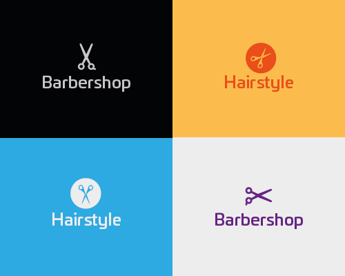 Logo kapperszaak kapper barber
