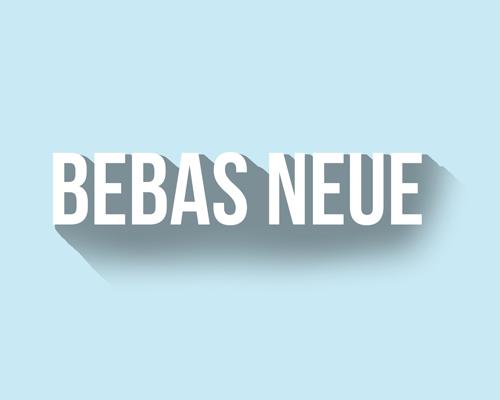 Lettertype Bebas Neue