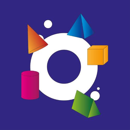 Vormen logo ontwerp shapes rond vierkant driehoekig