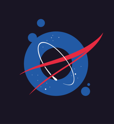Logospot Logo NASA blog illustratie