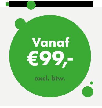 logo tarief vanaf 99 euro