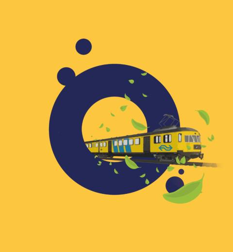 NS logo gele huisstijl