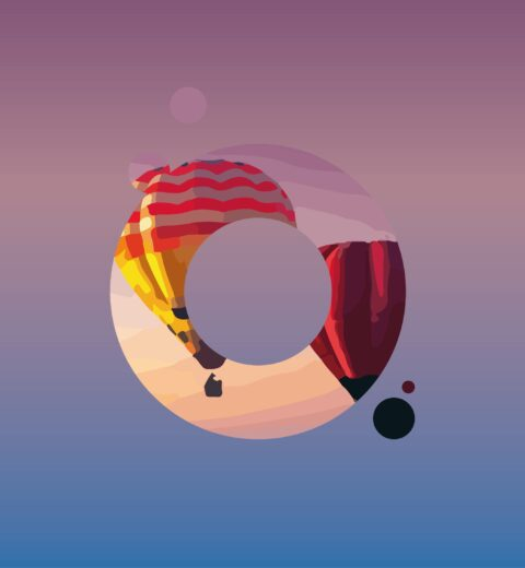 Je bedrijfslogo en huisstijl tonen op een luchtballon