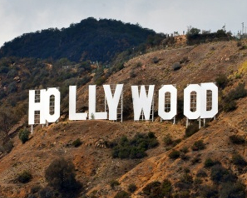 logo letters hollywood bord