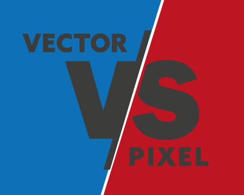 vecotr vs pixel logo